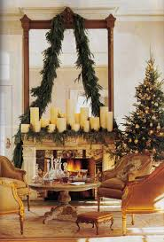 living room christmas tree decorated white and silver log home