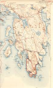 Map Of New York Harbor by Bar Harbor Me Quadrangle
