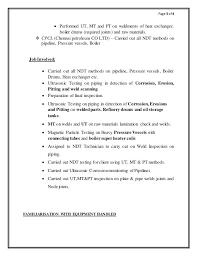 skill based resume exles ndt technician resume sle 3 resume sles skills based