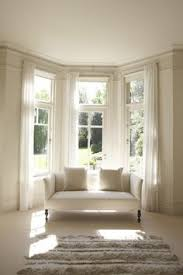How To Hang Bay Window Curtains Lovely Bay Window Treatment Off Center Window Can Still Work In A