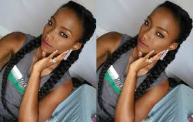 images of french braid hair on black women 2 french braids black hair short hair