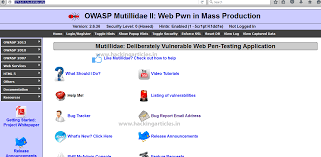 dvwa and owasp mutillidae ii lab setup in windows