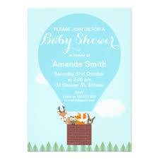 air balloon baby shower invitations announcements zazzle