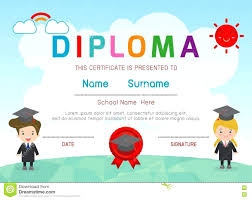 preschool graduation diploma template preschool graduation certificate template certificates