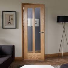 2 Panel Glazed Interior Door Novara Oak 2 Panel Door Pair