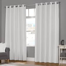naples white luxury lined eyelet curtains pair