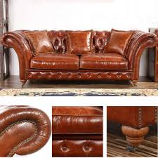 Vintage Leather Chesterfield Sofa Barrington 3 S Vintage Leather Chesterfield Sofa In Antiqued Style