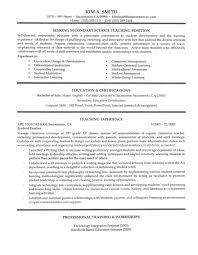 curriculum vitae exle for new teacher secondary teacher resume exle