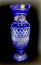 Cobalt Blue Crystal Vase Faberge Vase Ebay