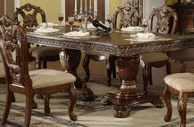 Two Pedestal Dining Table Fabulous Pedestal Dining Table Set With Danette Double Pedestal