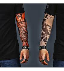 acdc tatoos a set of 2 tattoo sleeves skull and abstract
