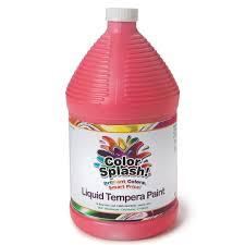 buy 128 oz color splash liquid tempera paint at s u0026s worldwide