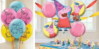 pig balloons peppa pig balloons party city
