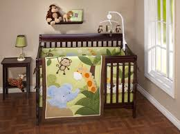 Complete Nursery Furniture Sets by Safari Baby Rooms Baby Room Decoration With Brown Wooden Crib