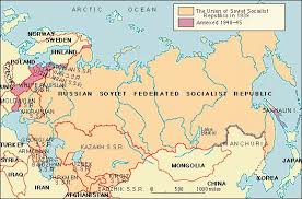 map of ussr the soviet union