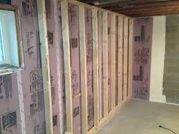 Exterior Basement Wall Insulation by Endearing Insulating Basement Walls Photo Of Study Room Exterior