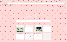 chrome themes cute pixel strawberries on pink google chrome theme weasyl