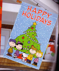 amazon com large snoopy peanuts happy holidays christmas garden