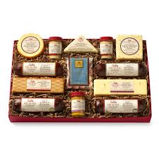 summer sausage gift basket deluxe smokehouse collection gift box gift hickory farms