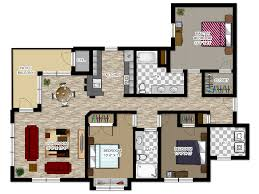 Three Bedroom Apartments River House Apartments Floor Plans