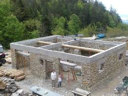Building A Stone And Log House In France House Floor Joists Construction