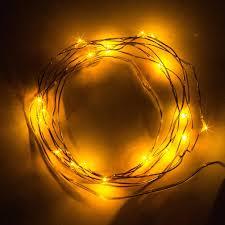 Battery String Lights Mini by 2m 20 Leds Warm White Led Copper Strings
