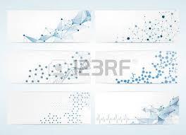 Digital Backgrounds Set Of Digital Backgrounds For Dna Molecule Structure Vector