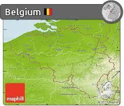 physical map of belgium free physical map of belgium