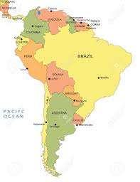 Latin America Map Printable by Where Is South America South America Maps Mapsofnet Political Map