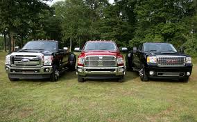 ford f450 super duty and dodge ram heavy duty crew cab and gmc