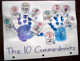 Religious Halloween Crafts by Train Up A Child 10 Commandments Pt 2 10 Commandments Craft