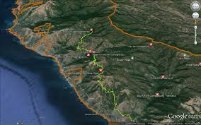 Big Sur Map Buckeye Trail Hiking And Backpacking In The Los Padres National
