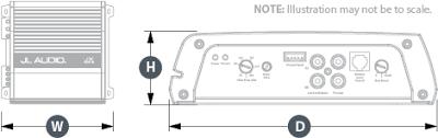 jx500 1d car audio amplifiers jx jl audio