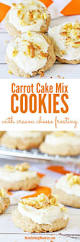 carrot cake mix cookies with cheese frosting recipe