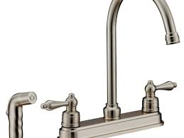 sink u0026 faucet contemporary goose neck brushed nickel kitchen