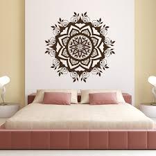Lotus Flower Wall Decal Om by Aliexpress Com Buy Wall Decal Mandala Flower Art Vinyl Sticker