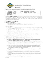 Sample Chef Resume by Prep Cook Resume Resume For Your Job Application