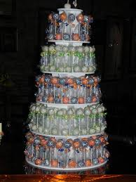 cake pop wedding cake blue and orange wedding cake pop mania a wedding cake