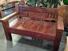 Old Wooden Benches For Sale by Rustic Teak Railroad Tie Bench Mediumimpact Imports