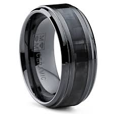 ceramic wedding bands 9mm black ceramic wedding band ring with wide black carbon fiber