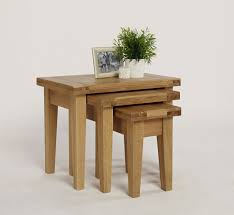 french farmhouse oak nested coffee tables hampshire furniture