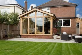 small extensions small oak framed garden room with sky lights
