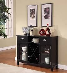 wood wine rack console sideboard table storage cabinet furniture