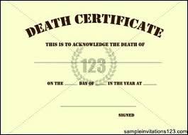 blank death certificate template sample sample invitations