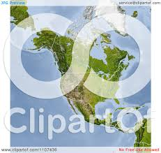 Map Of United States And Canada by Clipart Shaded Relief Map Of North America With United States And