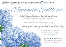 hydrangea bridal shower invitation blue hydrangea shower