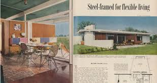 a 1954 better homes and gardens mid century modern magazine spread