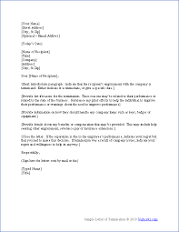 termination letter template 28 images 11 termination letter