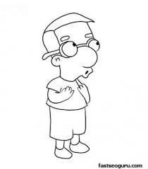 printablesimpson millhouse coloring page printable coloring