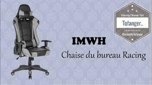chaise de bureau racing imwh racing chaise de bureau gaming unboxing bureaus